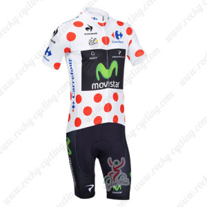 2013 Team Movistar Pro Bike Polka Dot Jersey Kit