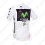 2013 Team Movistar Pro Bike White Jersey