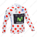 2013 Team Movistar Pro Cycling Long Sleeve Polka Dot Jersey