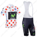 2013 Team Movistar Pro Cycling Polka Dot Jersey Bibs Kit