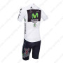2013 Team Movistar Pro Cycling White Jersey Kit