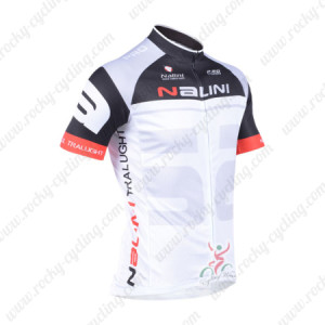 2013 Team NALINI Cycling Jersey Black White Grey