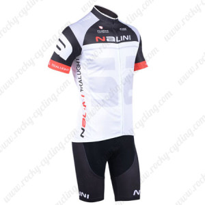 2013 Team NALINI Cycling Kit Black White Grey