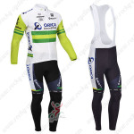 2013 Team ORICA GreenEDGE Cycling Long Bib Kit White Green