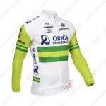 2013 Team ORICA GreenEDGE Cycling Long Jersey White Green