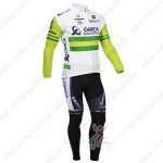 2013 Team ORICA GreenEDGE Cycling Long Kit White Green
