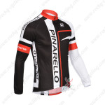2013 Team PINARELLO Cycling Long Jersey Black Red