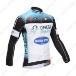 2013 Team QUICK STEP Cycling Long Jersey Blue White
