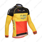 2013 Team QUICK STEP Cycling Long Jersey Red Yellow