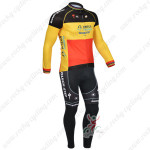 2013 Team QUICK STEP Cycling Long Kit Red Yellow