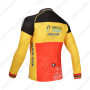 2013 Team QUICK STEP Riding Long Jersey Red Yellow