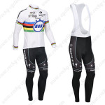 2013 Team QUICK STEP UCI Cycling Long Bib Kit White