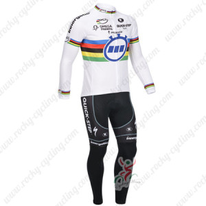 2013 Team QUICK STEP UCI Cycling Long Kit White