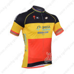 2013 Team Quick Step Cycle Jersey Red Yellow