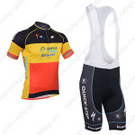 2013 Team Quick Step Cycling Bib Kit Red Yellow