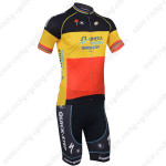2013 Team Quick Step Cycling Kit Red Yellow