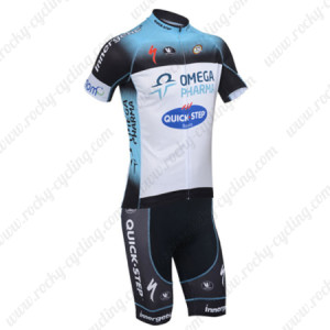 2013 Team Quick Step Cycling Kits Blue White