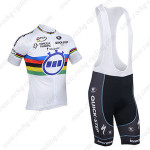 2013 Team Quick Step UCI Cycling Bib Kit White