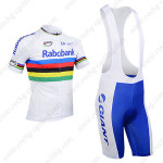 2013 Team RABOBANK UCI Cycling Bib Kit White