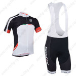 2013 Team SANTINI Cycling Bib Kit Black White