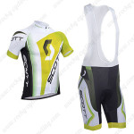 2013 Team SCOTT Cycling Bib Kit Green