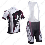 2013 Team SCOTT Cycling Bib Kit White Black Purple