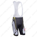 2013 Team SCOTT Cycling Bib Shorts White Black Yellow