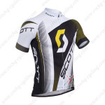 2013 Team SCOTT Cycling Jersey White Black Yellow