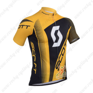 2013 Team SCOTT Cycling Jersey Yellow Black