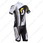 2013 Team SCOTT Cycling Kit White Black Yellow