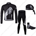 2013 Team SCOTT Cycling Long Suit+Gears Black