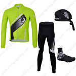 2013 Team SCOTT Cycling Long Suit+Gears Green