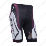 2013 Team SCOTT Cycling Shorts White Black Purple