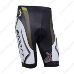 2013 Team SCOTT Cycling Shorts White Black Yellow