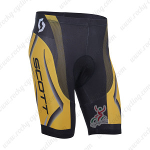 2013 Team SCOTT Cycling Shorts Yellow Black