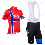 2013 Team SKY Cycling Bib Kit Red