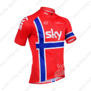 2013 Team SKY Cycling Jersey Red