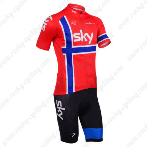 2013 Team SKY Cycle Apparel Biking Jersey Red