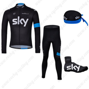 2013 Team SKY Cycling Long Suit+Gears Black Blue