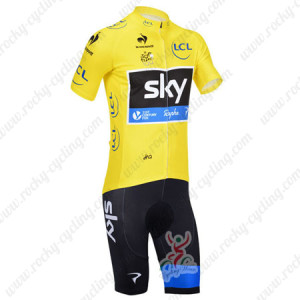 2013 Team SKY rapha Pro Bike Yellow Kit
