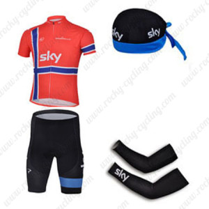 2013 Team SKY rapha Pro Cycling Set Red
