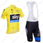 2013 Team SKY rapha Pro Cycling Yellow Bib Kit