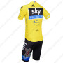 2013 Team SKY rapha Pro Riding Yellow Kit
