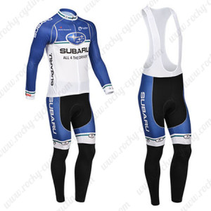 2013 Team SUBARU Cycling Long Bib Kit Blue White