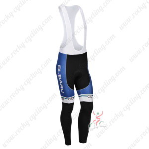 2013 Team SUBARU Cycling Long Bib Pants Blue White