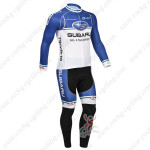 2013 Team SUBARU Cycling Long Kit Blue White