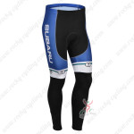 2013 Team SUBARU Cycling Long Pants Blue White