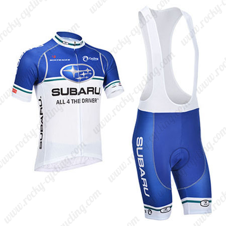 2013 Team SUBARU Riding Outfit Bicycle Jersey and Padded Bib Shorts ... 3d2753147