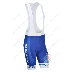 2013 Team SUBARU Pro Cycling Bib Shorts Blue