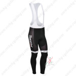 2013 Team Santini Cycling Long Bib Pants Black White